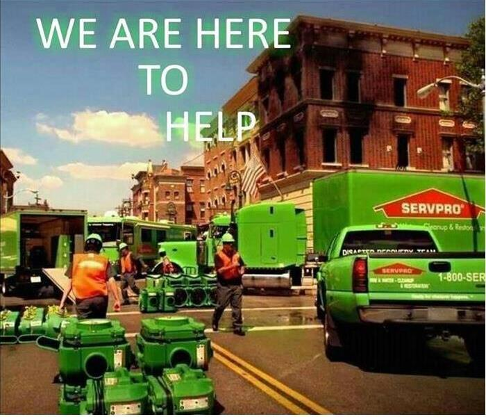 Why SERVPRO - image of SERVPRO vehicles and crew